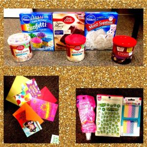 Yum Brands, one of our continuous supporters donated cake mix, icing, candles, birthday cards, and gift cards for us to give to our single parent's children on their special day!